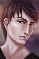 Portrait study: Dark-haired lad by R-Aters
