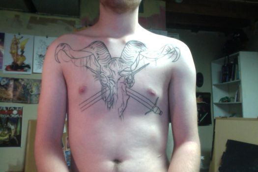 My chest piece WIP by LarsonJamesART