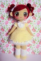 Spring flower ami doll by annie-88