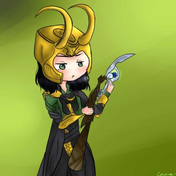 Chibi Loki by KitCat3216