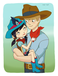 kimiko and clay by mel-bot
