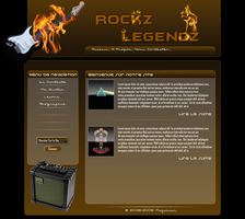 Rockz Legendz Web Template by maalem31