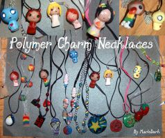 Polymer Charm Necklaces by mariedark