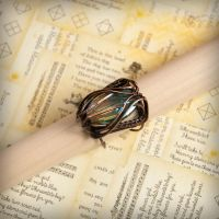 Wire wrapped copper ring - KAMELEON by VesnaMaric