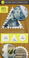 Vector Rubber and Postage Stamp Templates by PsdDude