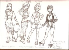Chara Sheet-Ladies by lunecramoisie