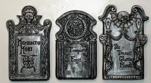18th Century tombstones by DellamorteCo
