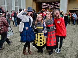 Daleks and 'Friends' by E-The-Zombie