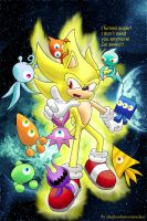 Super Sonic and the Wisps by shadowhatesomochao