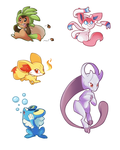 Pokemon X/Y Stickers by BatLover800