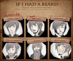 Lourde becomes a man! by M-I-D-S