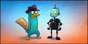 Agent P. Meet Agent Clank by RatchetMario