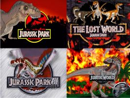 Jurassic Park Franchise Titles by TrefRex