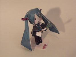 Hatsune Miku papercraft by FinalXJudgement