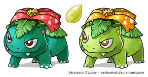 Chibi Venusaur Squiby by cartoonist