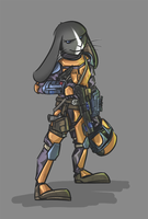 Mando Bunny - Background by bardic-fire