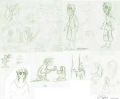 First very rough sketches for Third Year Film by rainvine
