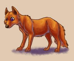 Red Dog by fuzzypinkmonster
