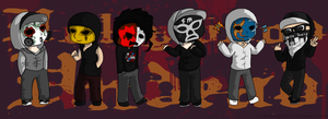 Hollywood Undead Chibis by SwordKnight131
