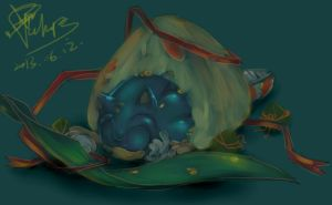 Hedgehog in a Zong zi by ahaaha123