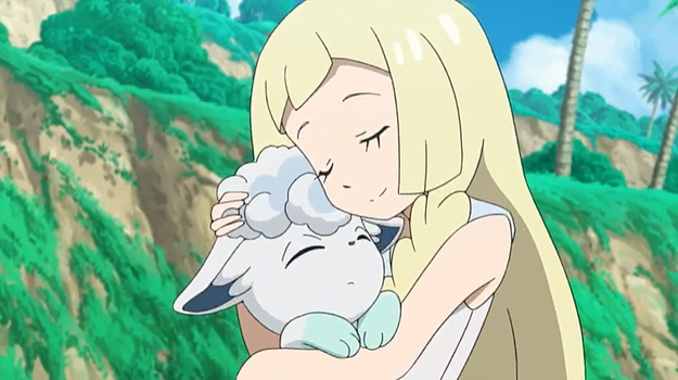 Lillie gives her Snowy, A Hug! by WillDynamo55
