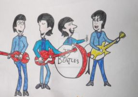 It's the Beatles! by Jellybabiebunny