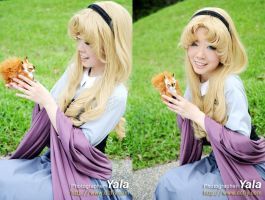 Briar Rose with Angry Squirrel by KrishCreate