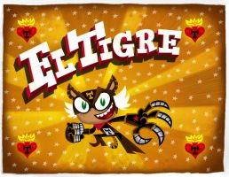 El Tigre main title card by mexopolis