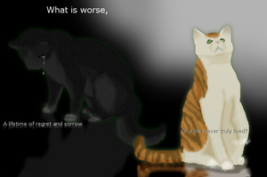 ..::What Is Worse::.. Hollyleaf and Fallen Leaves by UmbreonMizukiArt