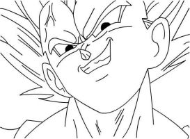 Vegeta great grins lineart by Mifang