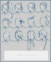 Hair references by HaitiKage
