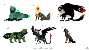Mixed Creature Adopts 72 by Adopt-Monstar