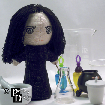 Severus Snape 3D Cross Stitch Doll by rhaben