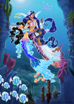 CE: Siren Sisters have fun Underwater by Dunkle-Katze
