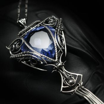 NEMMEXANTH AHTURX Silver and Blue Quartz by LUNARIEEN