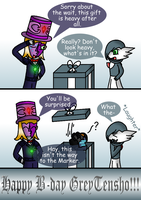 GreyTensho's B-day 1 by Trifong