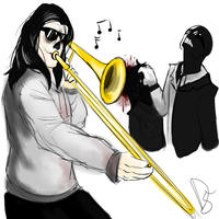 When Psycho isn't home by DinoSam