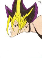 Yami Yugi colored by Dark--Magician