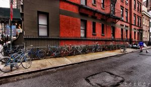 Bicycle Wall Greenwich Village by steeber