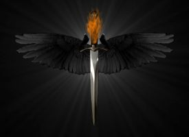 Crow Sword by GothicBlackAngel