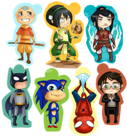 And also super-powered chibis. by skejy