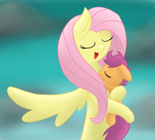 [MLP] Fluttershy and Scootaloo by yourfavoritelove