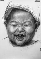 Charcoal- baby- 80x60cm by MOTAIDO