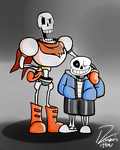 Papyrus and Sans by Dony123