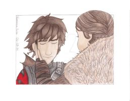 Hiccup and Valka- Httyd2 (Colored) by aquavanessa27
