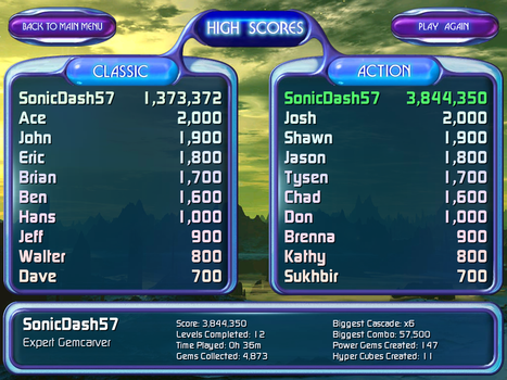 Bejeweled 2 Deluxe - Action mode record by SonicDash57