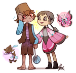 Pokemon OC: Scott + Becky by ky-nim
