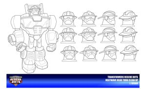 Rescue Bots Heatwave Head Turn Clean Up by thegreatjery