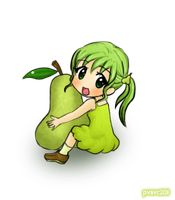 Pear girl x3 by valeriachan