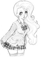 Schoolgirl Sketch by moni-desu